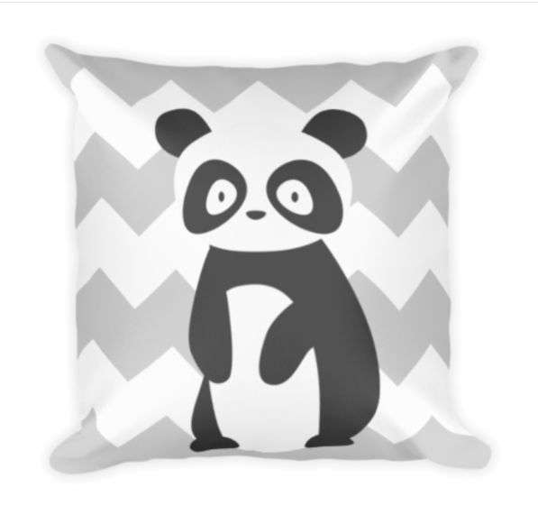 Panda Chevron Pillow Image