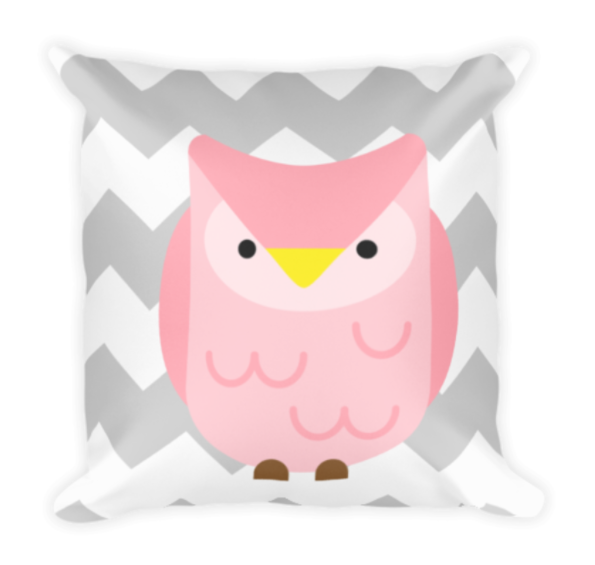 Owl Chevron Pillow Image