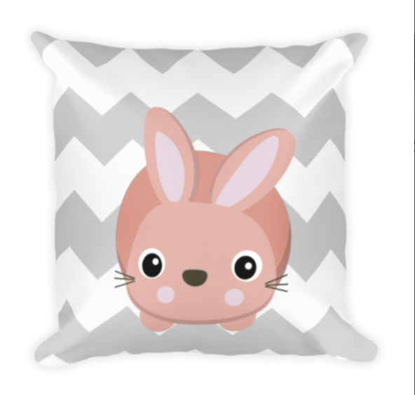 Bunny Chevron Pillow Image